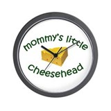 Mommy's Cheesehead Wall Clock
