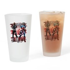 Captain America and Nick Fury Drinking Glass