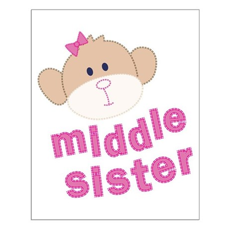 middle sister monkey Small Poster