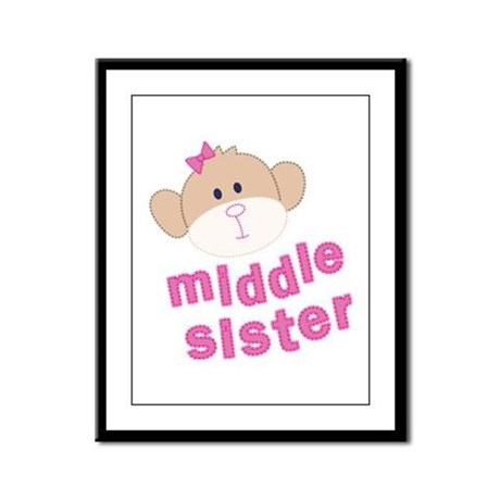 middle sister monkey Framed Panel Print