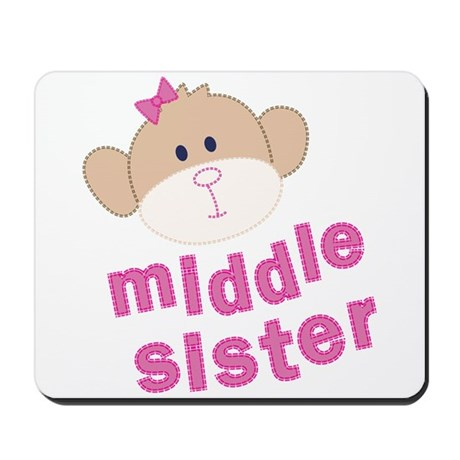middle sister monkey Mousepad
