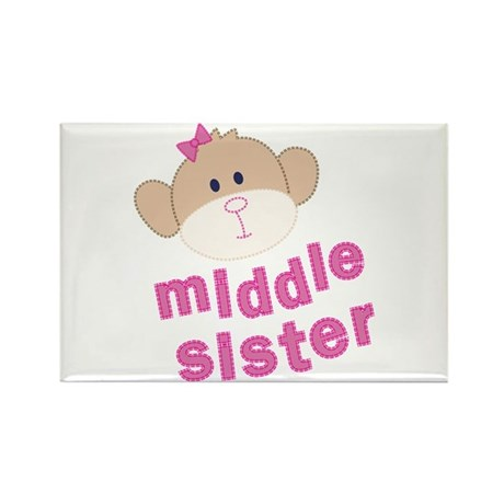 middle sister monkey Rectangle Magnet