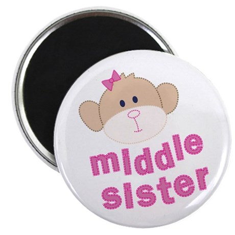 middle sister monkey Magnet