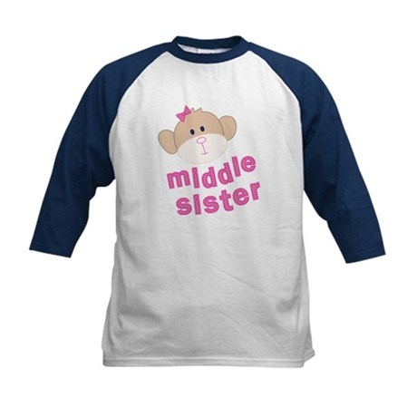 middle sister monkey Kids Baseball Jersey