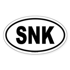 SNK Oval Decal