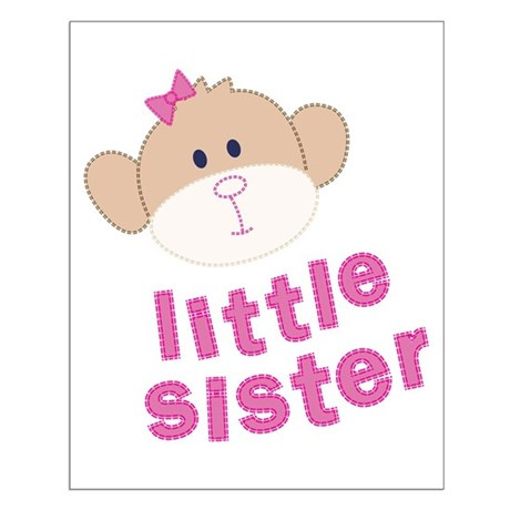 little sister monkey Small Poster