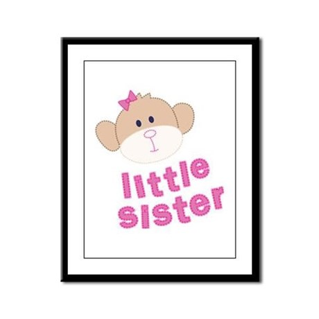 little sister monkey Framed Panel Print