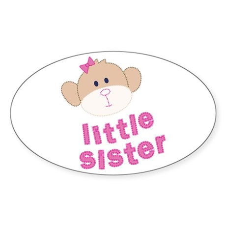 little sister monkey Oval Sticker