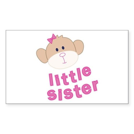 little sister monkey Rectangle Sticker