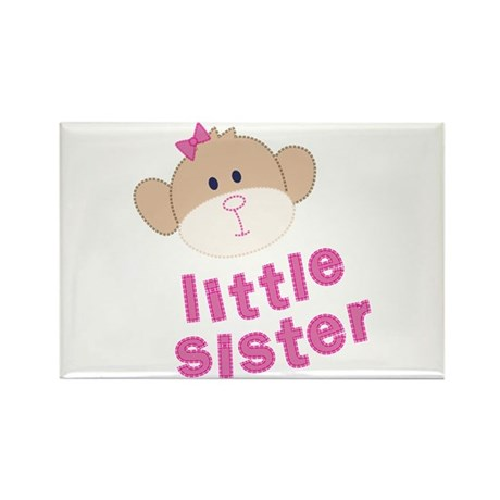 little sister monkey Rectangle Magnet
