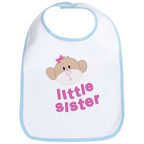 little sister monkey Bib