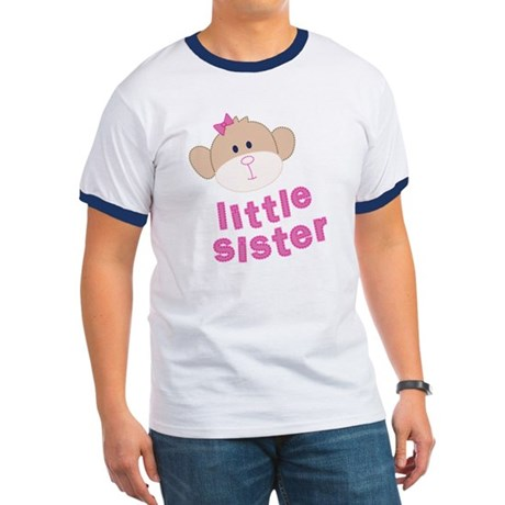 ADULT SIZES little sister monkey Ringer T