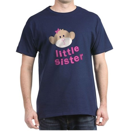 ADULT SIZES little sister monkey Dark T-Shirt