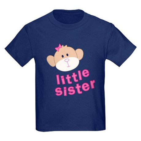 little sister monkey Kids Dark T-Shirt