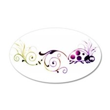 Groovy ladybug with fun tail Wall Decal