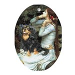Ophelia & Cavalier (BT) Ornament (Oval)