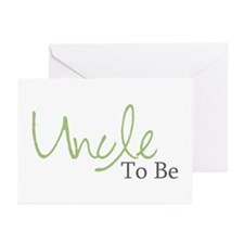 Uncle To Be (Green Script) Greeting Cards (Package