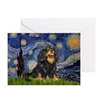Starry Night Cavalier Greeting Cards (Pk of 10)