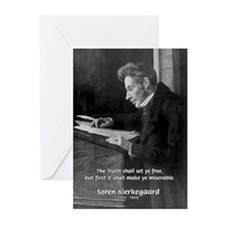 Truth Existentialist Kierkegaard Greeting Cards