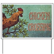 Chicken Crossing Yard Sign