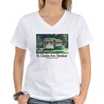 New Orleans Streetcar Women's V-Neck T-Shirt