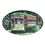 New Orleans Streetcar Oval Sticker