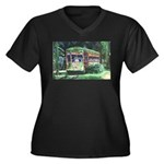New Orleans Streetcar Women's Plus Size V-Neck Dar