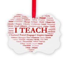 Big Hearted Teacher Ornament