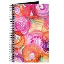 Purple And Orange Blooms Journal