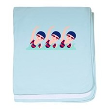 Synchronized Swimming Girls baby blanket