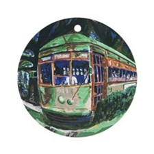 New Orleans Streetcar Ornament (Round)