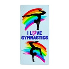 Graceful Gymnast Beach Towel