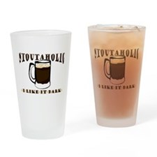 Stoutaholic Pint Drinking Glass