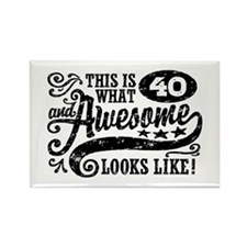 40th Birthday Rectangle Magnet