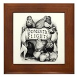 Big Apple Flight Pigeons Framed Tile