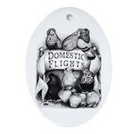 Big Apple Flight Pigeons Oval Ornament