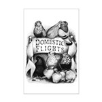 Big Apple Flight Pigeons Mini Poster Print