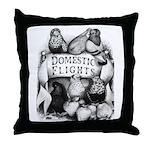 Big Apple Flight Pigeons Throw Pillow