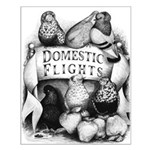 Big Apple Flight Pigeons Small Poster