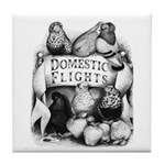 Big Apple Flight Pigeons Tile Coaster