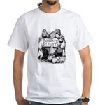 Big Apple Flight Pigeons White T-Shirt