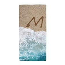 LETTERS IN SAND M Beach Towel