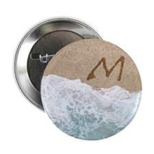 "LETTERS IN SAND M 2.25"" Button"