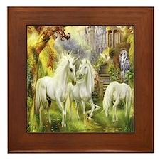 Beautiful Unicorns Framed Tile