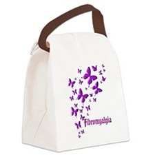 FIBROMYALGIA BUTTERFLIES Canvas Lunch Bag