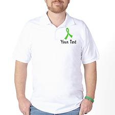 Personalized Lime Green Ribbon Awarenes T-Shirt