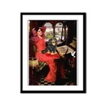 Lady & Cavalier (BT) Framed Panel Print