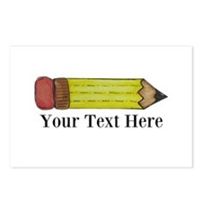 Personalizable Pencil Postcards (Package of 8)