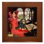 Lady & Cavalier (BT) Framed Tile