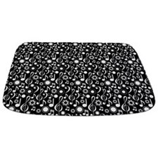 Music Notes And Clefs Bathmat